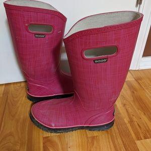 Women's size 8 Bogs rain boots